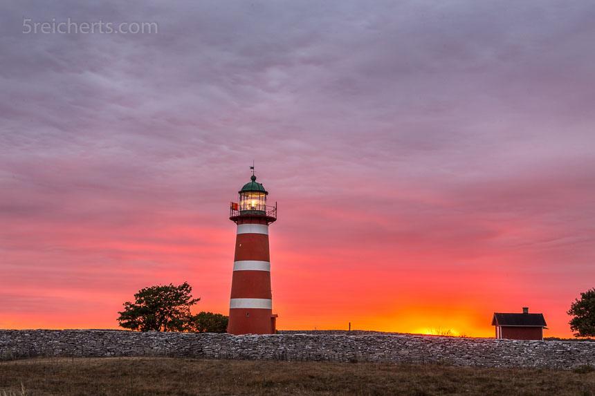 Sonnenuntergang am Leuchtturm När