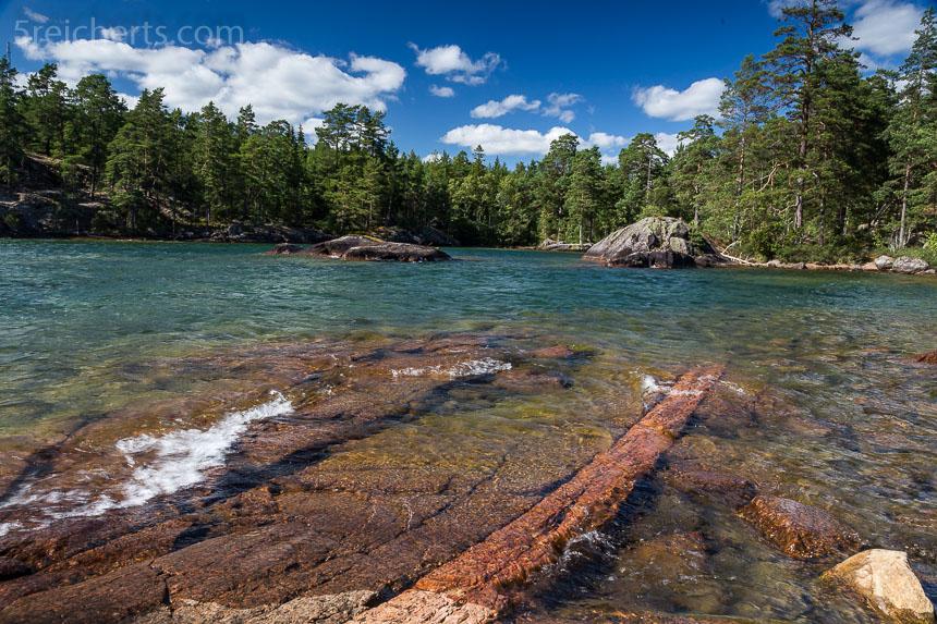 Felsen und Wasser und Bäume - Vättern