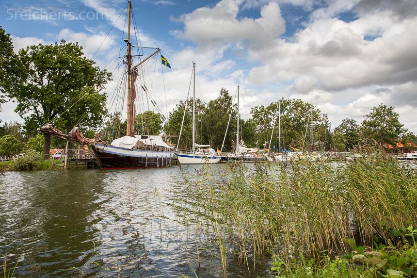 Boote auf dem Göta Kanal