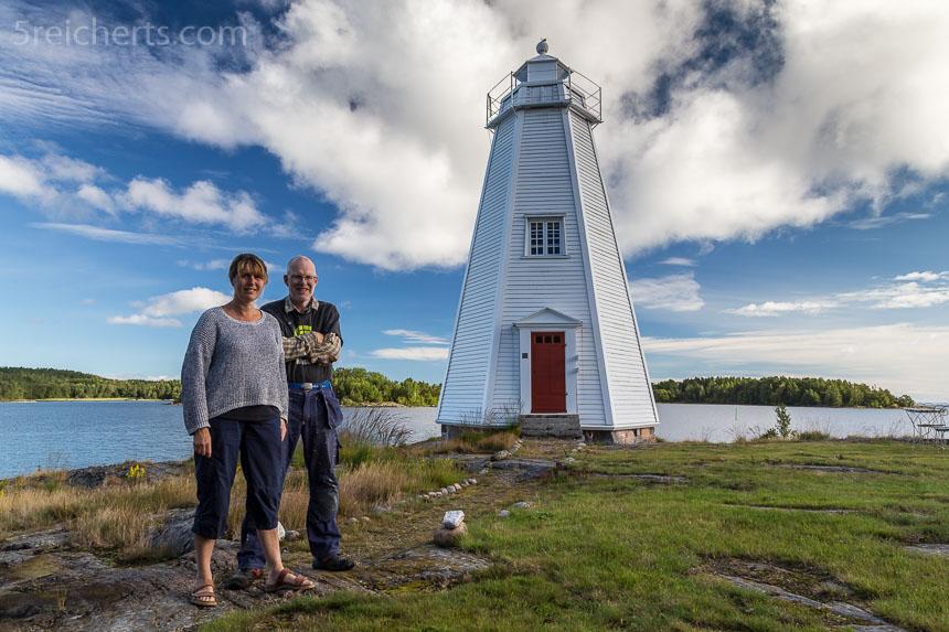 Anna-Lena und Gunno und der Leuchtturm Stavik
