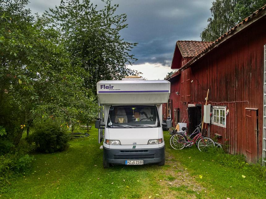 Unser Womo in Askö