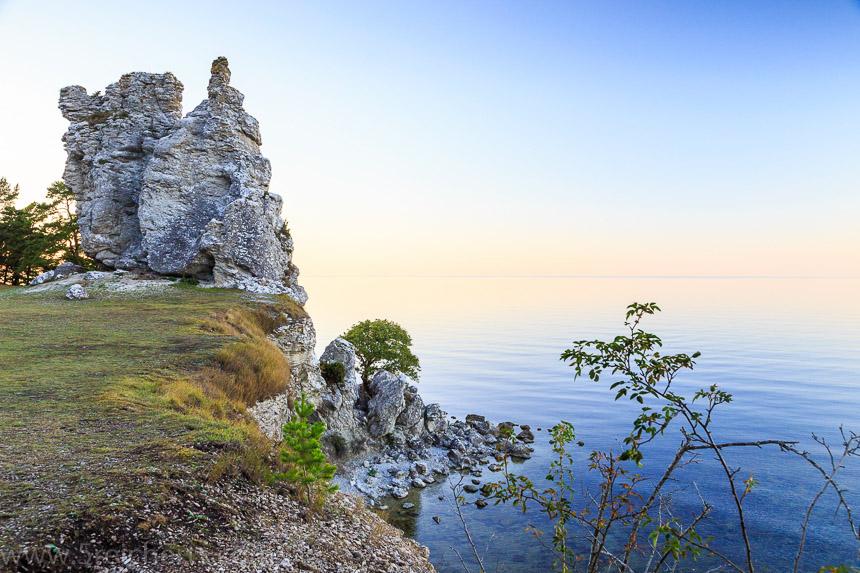 Jungfrun Felsen nach Sonnenuntergang