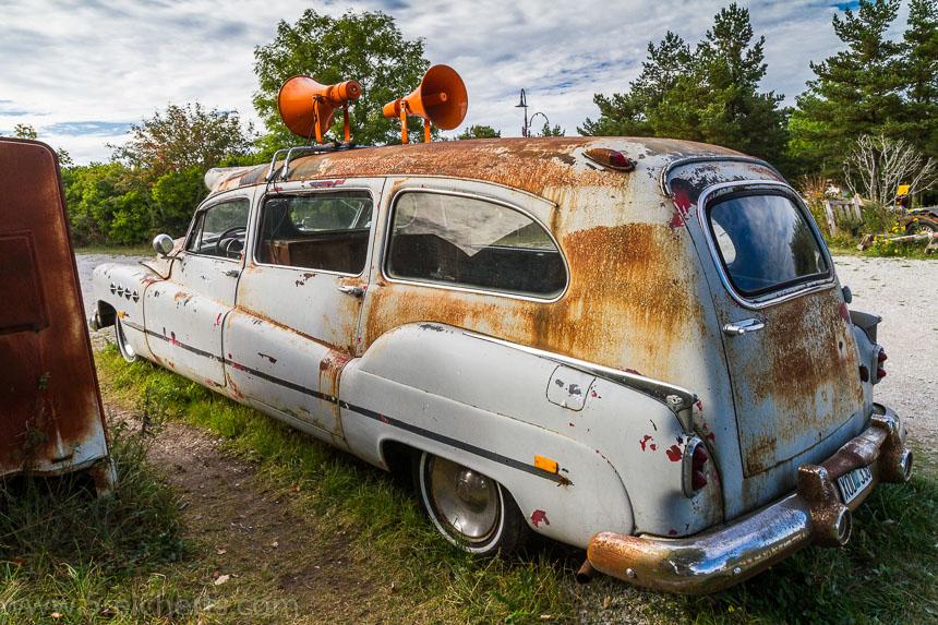 Der Krankenwagen indem Elvis transportiert wurde