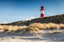 Der Leuchtturm List Ost in den Dünen des Sylter Ellenbogens