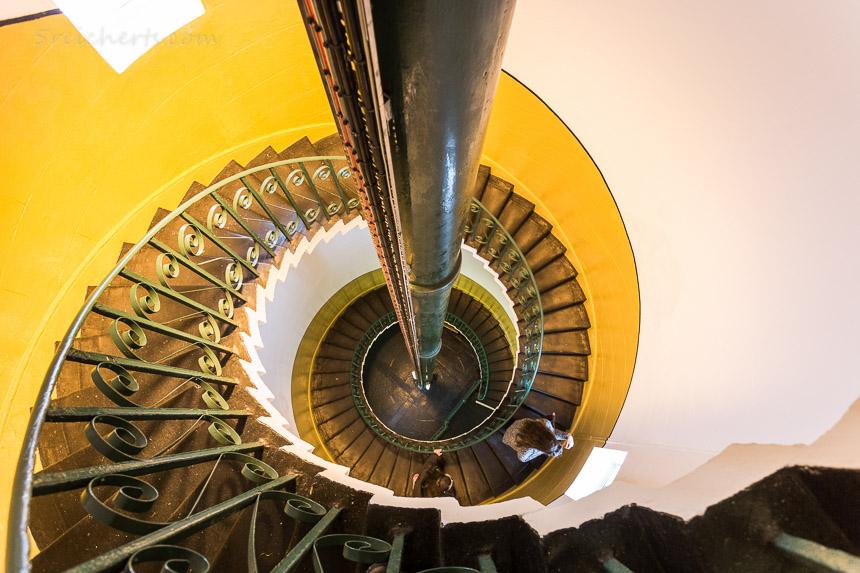 Das Treppenhaus von oben runter