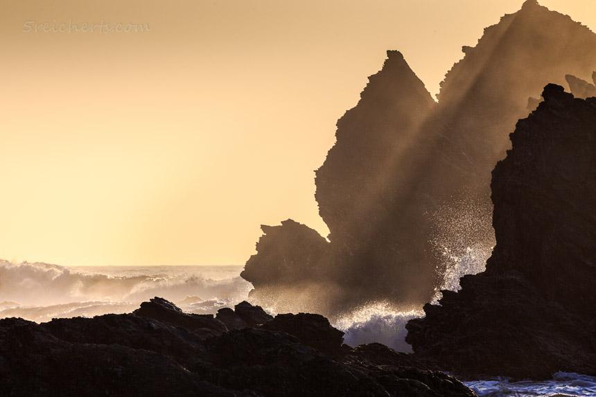 Felsen im Sonnenuntergang, Belle Ile, Bretagne