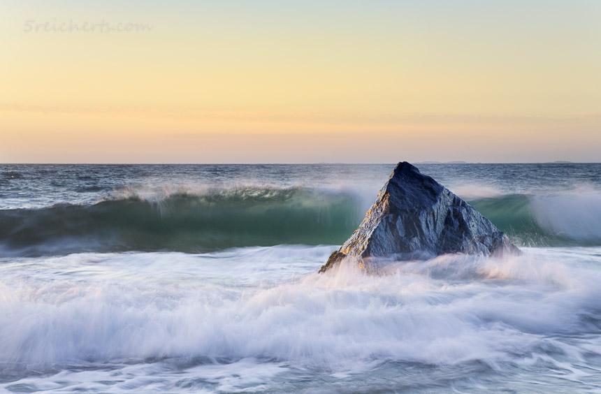 Wellen und Fels, Myrland, Lofoten