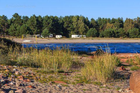 Idyllischer Campingplatz, Aland Inseln
