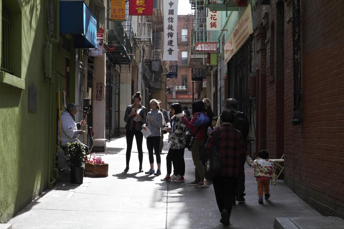 Straßenmusiker in Chinatown