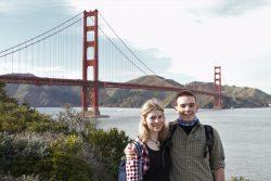 Zwei Geographie-Studenten auf USA Reise: meine Kommilitonin und gute Freundin Sandra und ich.