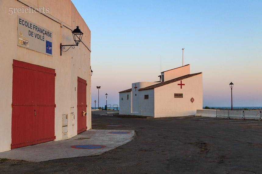 Nur abends ist es so menschenleer in Ste Marie de la Mer, Camargue