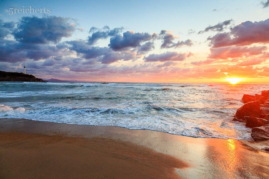 Biarritz, Sonnenuntergang
