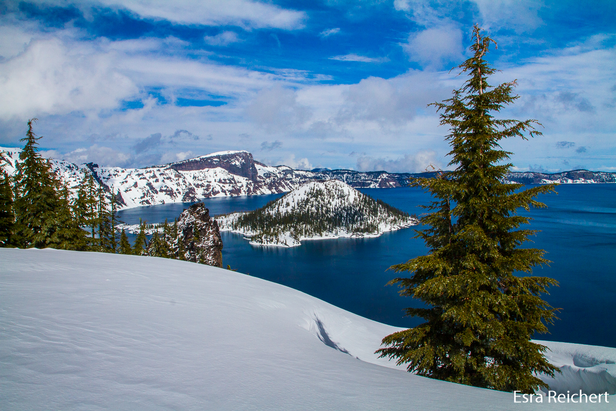 Wizard's Island im Crater Lake, OR.