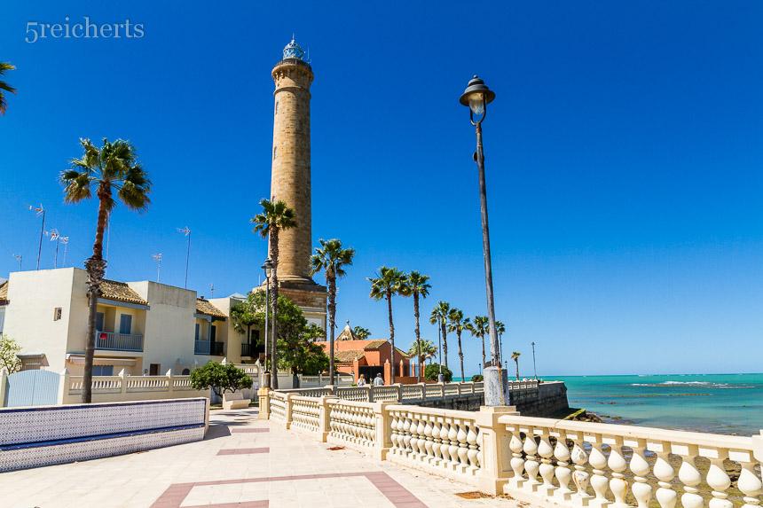Leuchtturm von Chipiona, Andalusien, Spanien