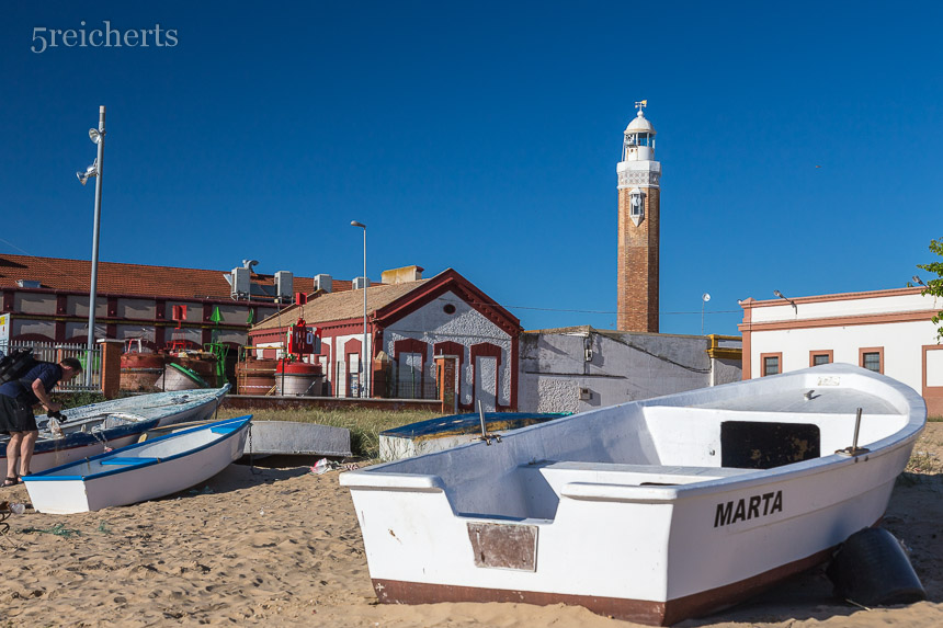 Leuchtturm in Bonanza, Andalusien