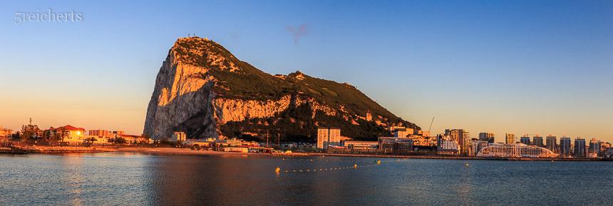 Sonnenuntergang über Gibraltar