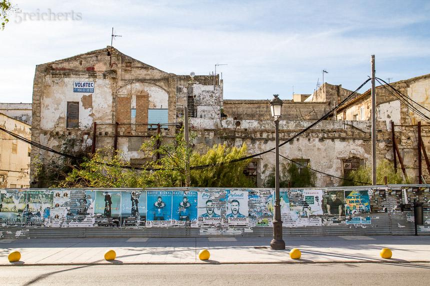 Verfallene Häuser, Puerto Sherry, Andalusien