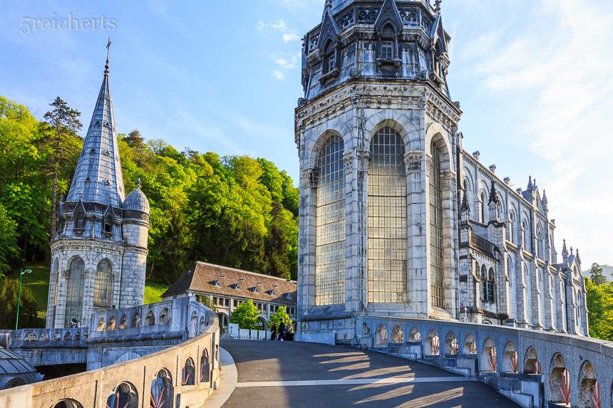 Detail der Basilika, Lourdes