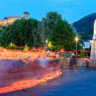 abendliche Prozession in Lourdes