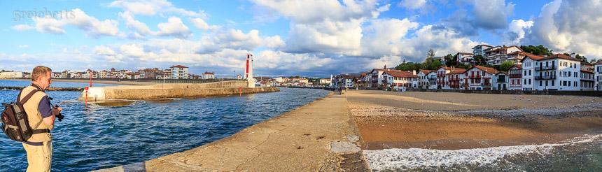 Panorame im Hafen von St Jean de Luz