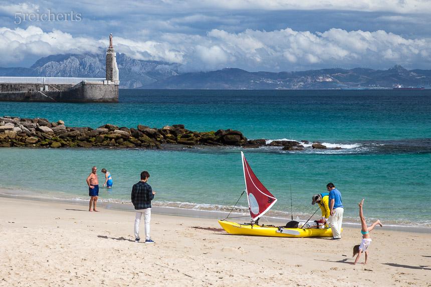 Strandaktivitäten, Andalusien