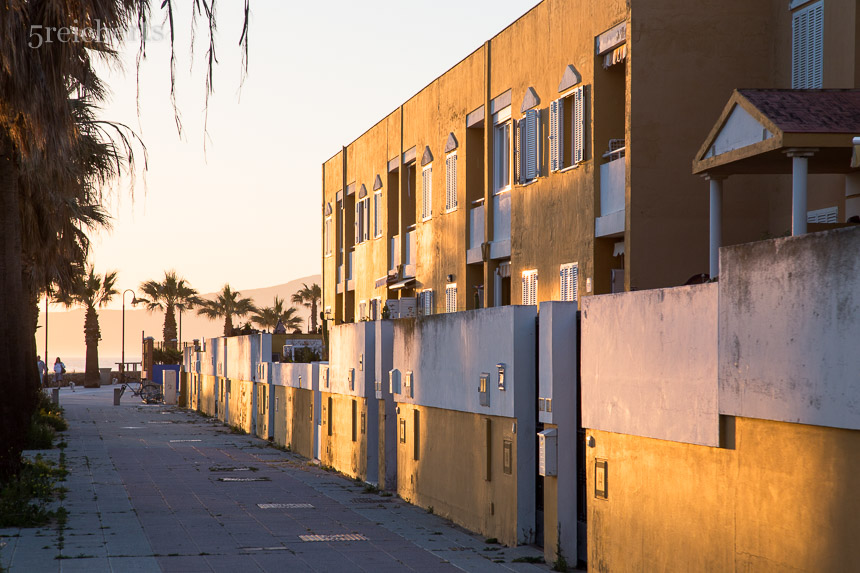 Wohnhäuser in Tarifa, Andalusien