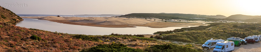 Carrapateira - Lagune und Strand