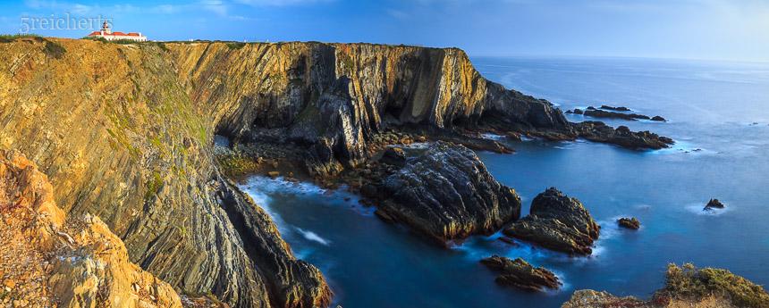 Die Steilküste am Cabo Sardao