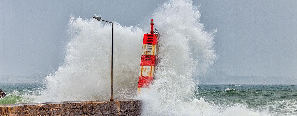 Hafenleuchtturm in Lagos, Algarve, Portugal