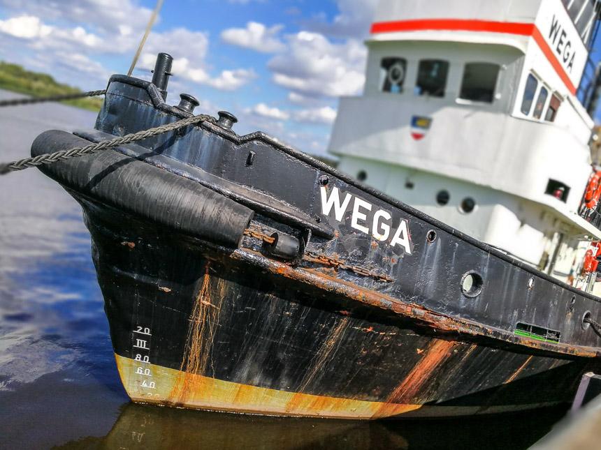 Große Blende, Boot in Rostock