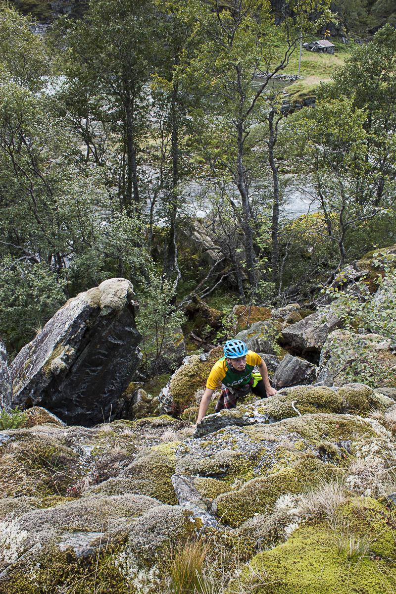Ein bisschen Zeit zum Klettern muss immer sein.