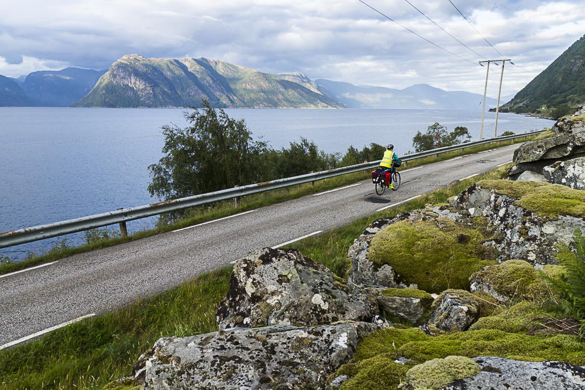 Straßenrand-Aussichten am Sognefjord.