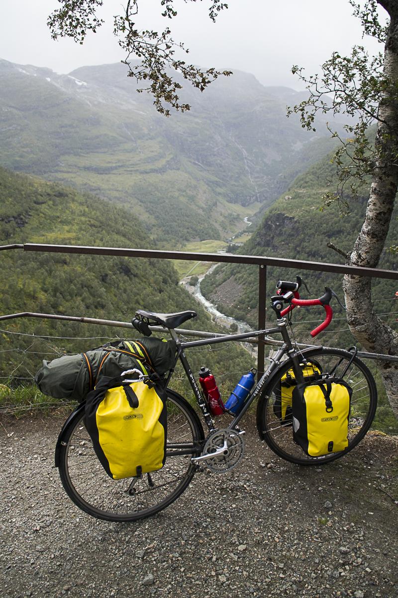 Mein Rad muss viel mitmachen.