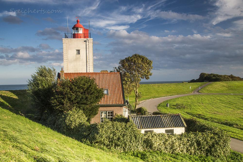 Das Warten auf die Sonne lohnte, Leuchtturm De Ven, Niederlande