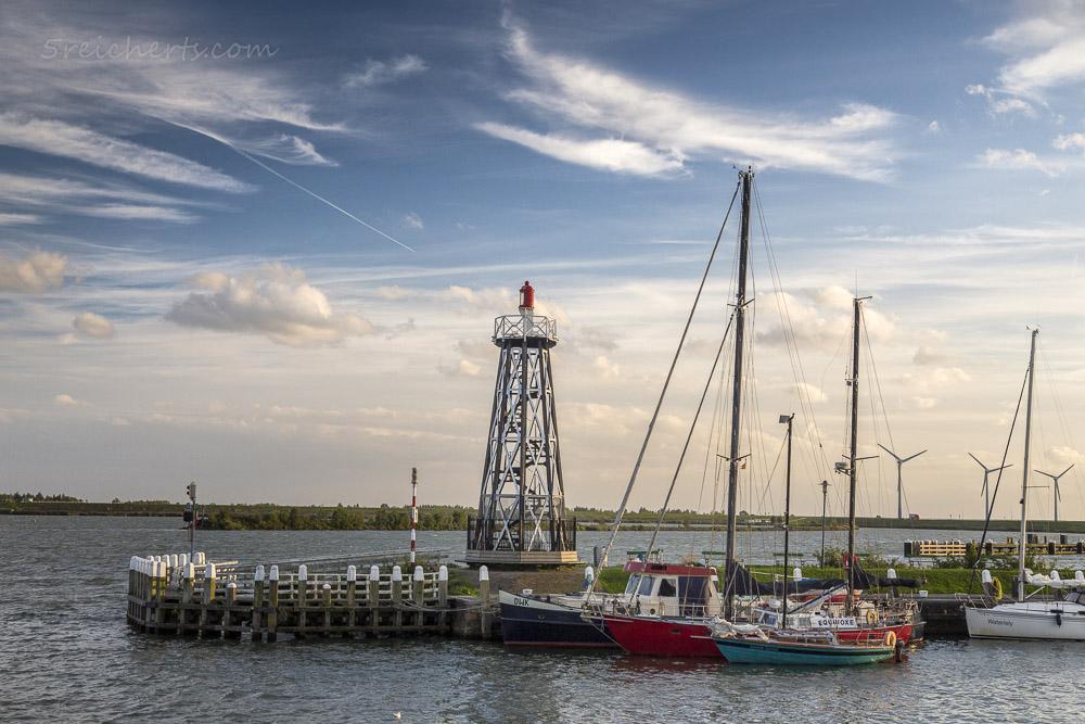 Blick zum Leuchtturm von Enkhuizen, Niederlande