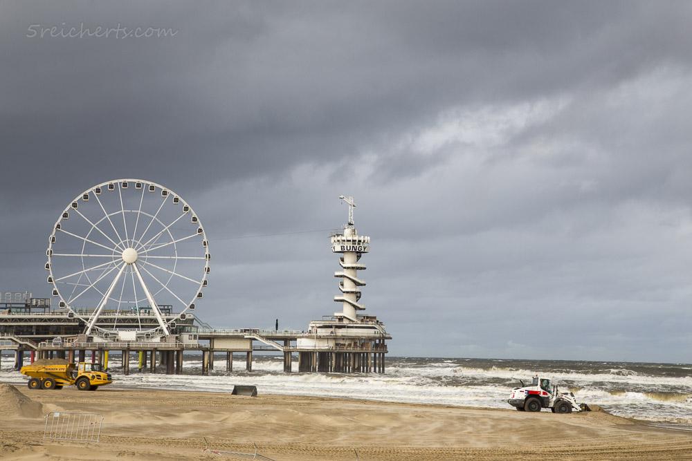 Regenwetter in Scheveningen, Niederlande