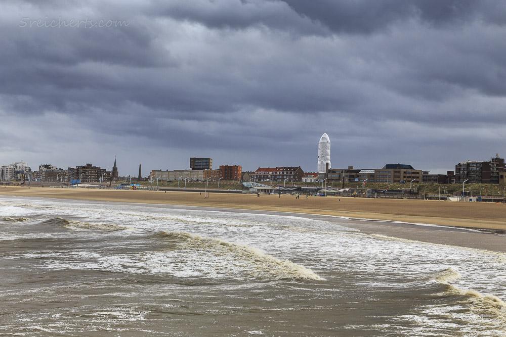 Der Leuchtturm in Scheveningen, Niederlande