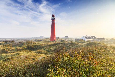 Der Nordertooren nach Sonnenaufgang, Schiermonnikoog, Niederlande