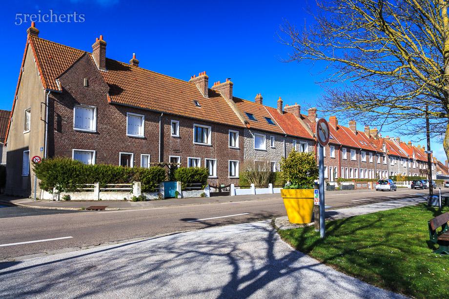 Häuserzeile in Hourdel, Picardie