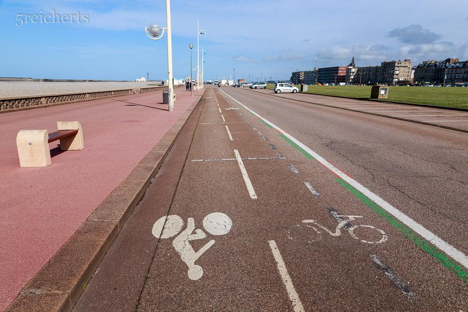 Überall gibts Radwege in Dieppe