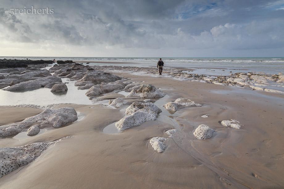 Die Kreidefelsen am Strand