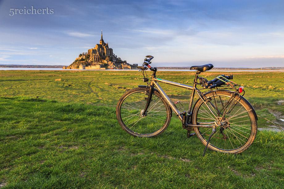 Mein Fahrrad und Mont Saint Michel