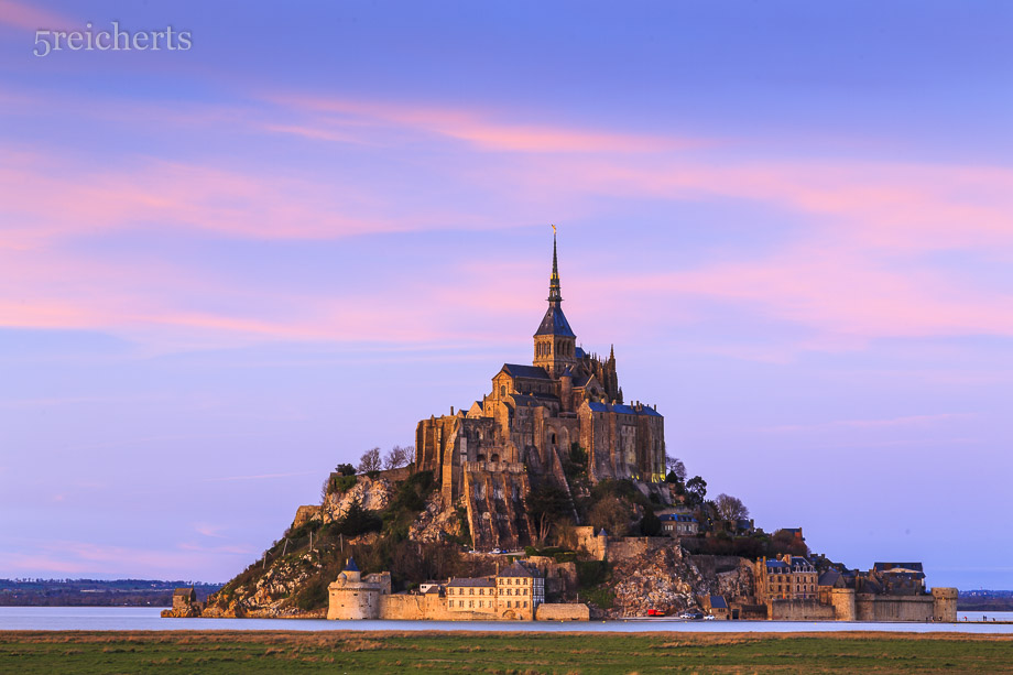 Sonnenuntergangsstimmung am Mont Saint Michel