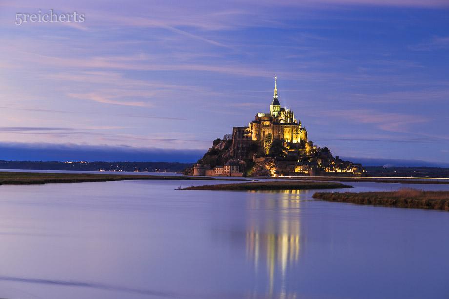 Blaue Stunde, Mont Saint Michel