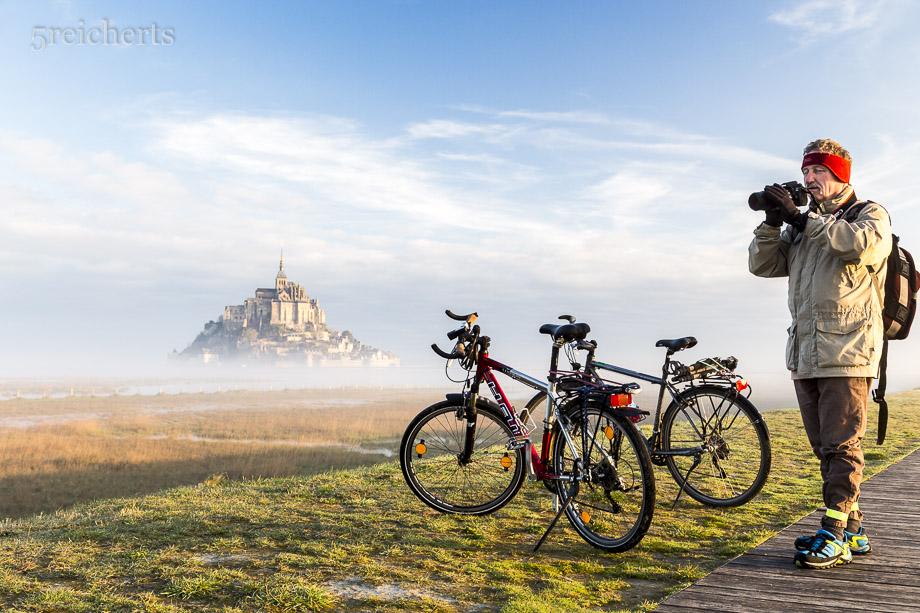 Unsere Räder und Gunter beim Fotografieren