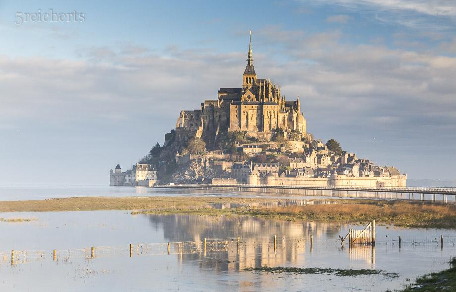 Fluthöchststand am Mont Saint Michel