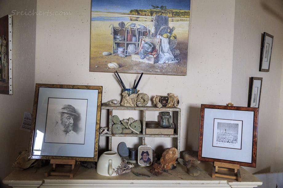 Im Atelier des Der Malers Didier-Marie Le Bihan