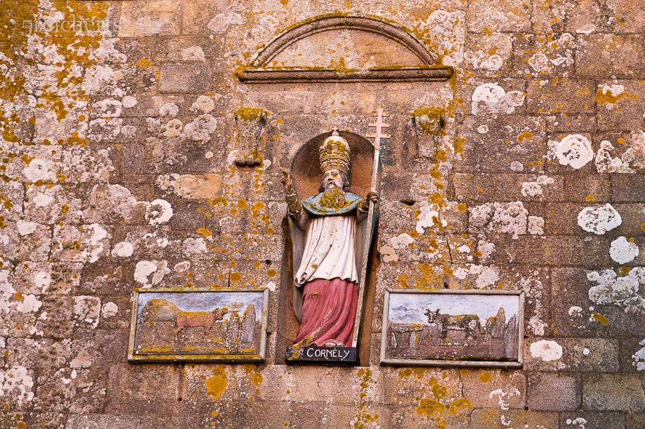 St Cornelius, der Schutzheilige des Hornviehs, Kirche Carnac