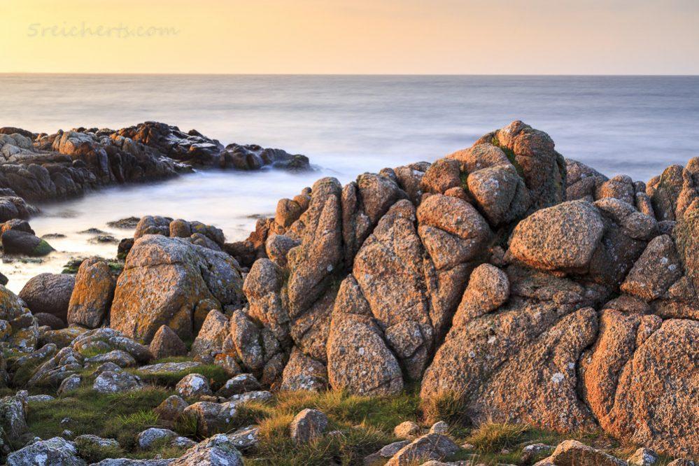 Felsen im Sonnenuntergang, Hammer, Bornholm
