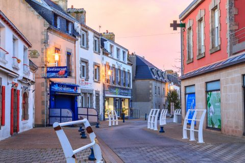 Sonnenuntergang in Guilvinec, Bretagne